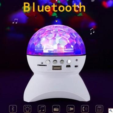 LED Φωτορυθμικό - Ηχειάκι Bluetooth με USB, TF, MicroUSB - Disco Music Ball Club Runner