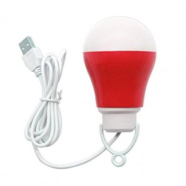 LED usb λάμπα red