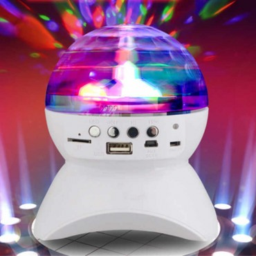 LED Φωτορυθμικό - Ηχειάκι Bluetooth με USB, TF, MicroUSB - Disco Music Ball Club Runner
