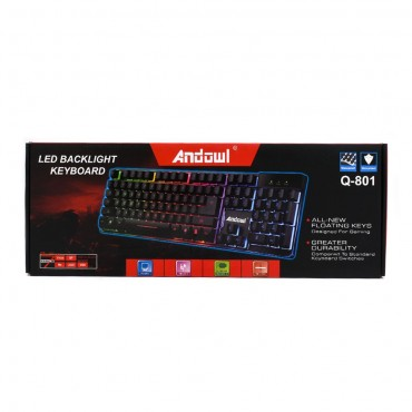 Πληκτρολόγιο Gaming USB με Οπίσθιο Φωτισμό Andowl Q-801