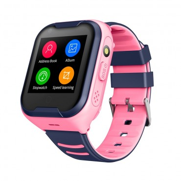 Smartwatch - sim - gps - video κλήση 4g lte ροζ