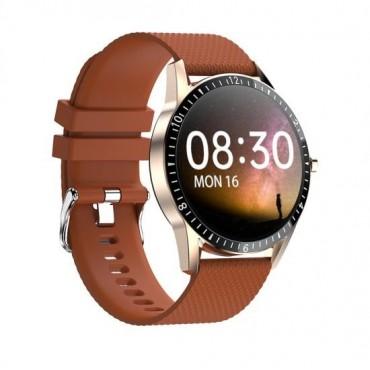 Smartwatch Y20 bluetooth κλήσεις καφέ
