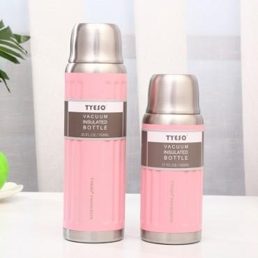 Μεταλλικός θερμός-παγούρι 500ml tyeso ροζ
