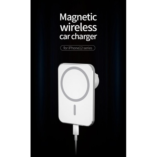 Wireless Magsafe Magnetic Car Charger Holder Mount for iPhone 12 Mini / 12 Pro/12 Pro Max wp-u97