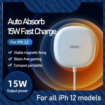 Ασύρματος Φορτιστής REMAX Magnetic Wireless Fast Charger 15w rp-w28 white