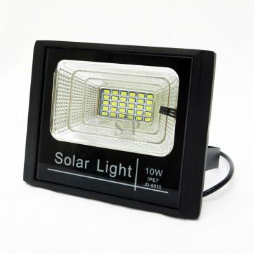 Ηλιακός Solar Προβολέας Αδιάβροχος 10W με Φωτοβολταϊκό Πάνελ, Τηλεκοντρόλ και Χρονοδιακόπτη JD-8810