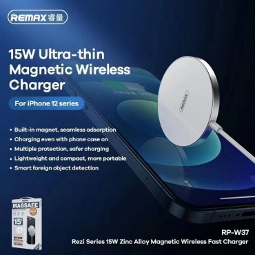 Remax Wireless Magnetic Car Charger  for iPhone 12 Mini / 12 Pro/12 Pro rp-w37