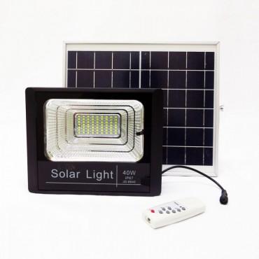 Ηλιακός Solar Προβολέας Αδιάβροχος 40W με Φωτοβολταϊκό Πάνελ, Τηλεκοντρόλ και Χρονοδιακόπτη JD-8840