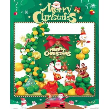 Σετ μπαλόνια χριστουγεννιάτικα 49τεμ sd-01