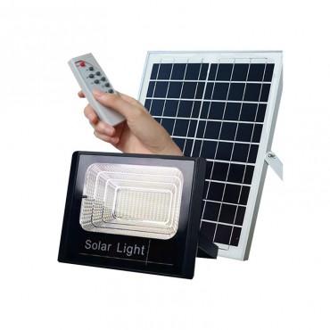 Ηλιακός Solar Προβολέας Αδιάβροχος 100W με Φωτοβολταϊκό Πάνελ, Τηλεκοντρόλ και Χρονοδιακόπτη JD-8100
