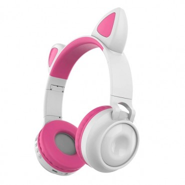 Ακουστικά παιδικά Bluetooth 5 Wireless cat ear zw-028 (pink)
