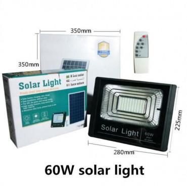 Ηλιακός Solar Προβολέας Αδιάβροχος 60W με Φωτοβολταϊκό Πάνελ, Τηλεκοντρόλ και Χρονοδιακόπτη JD-8860