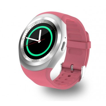 Smartwatch - bluetooth - sim Y1 (ροζ)