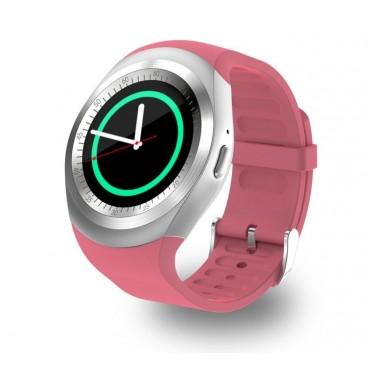 Smartwatch - bluetooth - sim Y1 (ροζ)