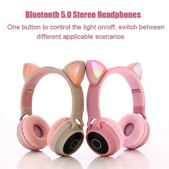 Ακουστικά παιδικά Bluetooth 5 Wireless cat ear 028 (blue)