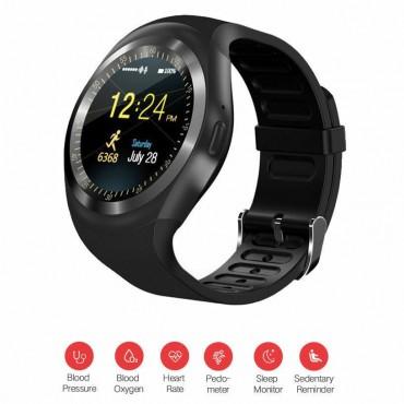 Smartwatch - bluetooth - sim Y1 (Μπλε)