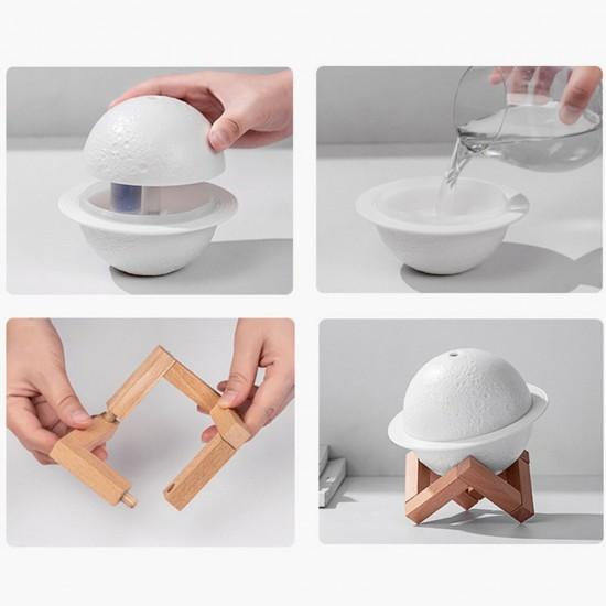 Υγραντήρας + Συσκευή Αρωματοθεραπείας - planet lamp- OEM