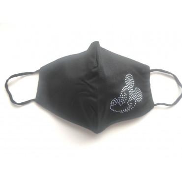Μάσκα προστασίας υφασμάτινη πολλαπλών χρήσεων ενηλίκων-εφήβων μαύρη miki