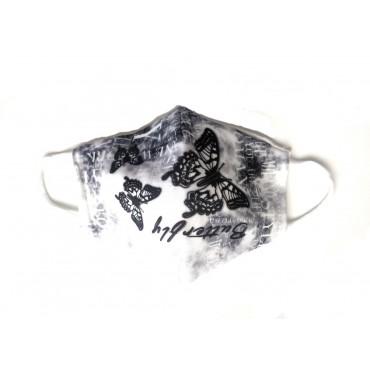 Μάσκα προστασίας υφασμάτινη πολλαπλών χρήσεων ενηλίκων-εφήβων πεταλούδες