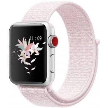 Υφασμάτινο λουράκι για smartwatch ροζ 38-40mm