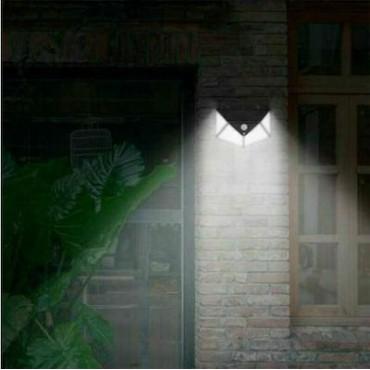 Αδιάβροχο Ηλιακό Φωτιστικό Τοίχου με Ανιχνευτή Κίνησης 100 Led