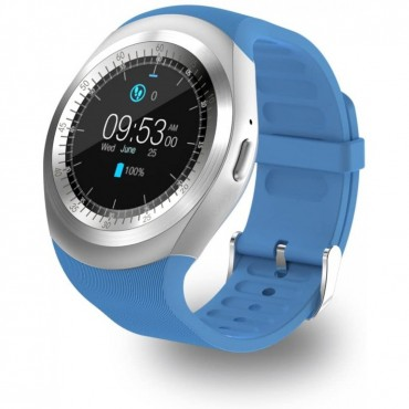 Smartwatch - bluetooth - sim Y1 (Μπλε)