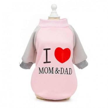 ΦΟΥΤΕΡ ΡΟΖ I LOVE MOM AND DAD