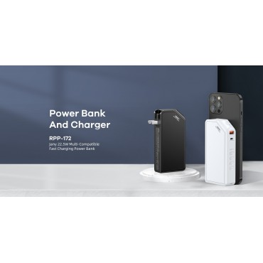 Power Bank + φορτιστής remax rpp-172 10.000mah black
