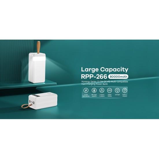 Remax RPP-266 Power Bank 80000mAh (άσπρο)