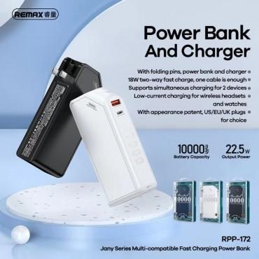 Power Bank + φορτιστής remax rpp-172 10.000mah black