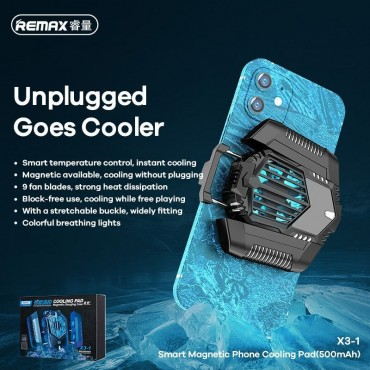 REMAX X3-1 Smart Magnetic Phone Cooling Pad Μαύρο
