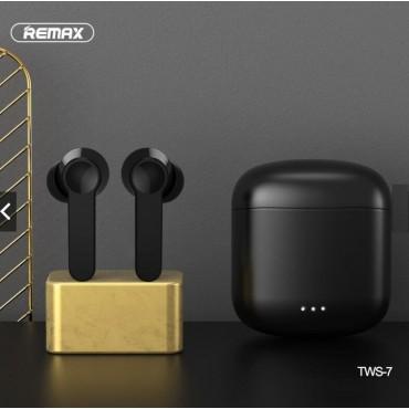 REMAX TWS-7 Bluetooth V5.0 True Wireless Earbuds Ασύρματα στερεοφωνικά ακουστικά Μαύρα