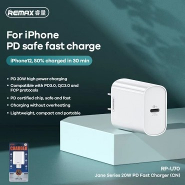 Pd safe fast charge for iphone 12 remax rp-u70