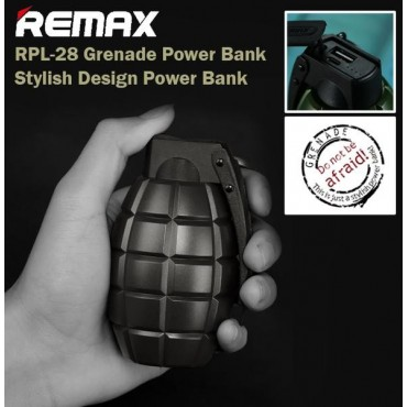Remax Power Bank Grenade Rpl-28 5000mah - Remax - Μαύρο