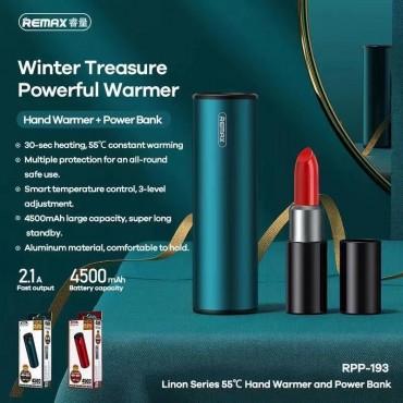 Power Bank + hand warmer remax rpp-193 4.500mah