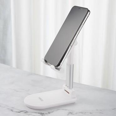 Επιτραπέζια Βάση Κινητού / Tablet λευκό remax ch-13