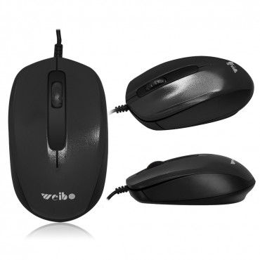 Ενσύρματο ποντίκι weibo wb-013 black