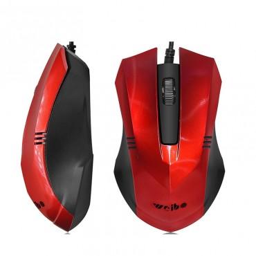 Ενσύρματο ποντίκι weibo fc-201 red