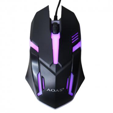 Gaming ενσύρματο ποντίκι aoas v2 black