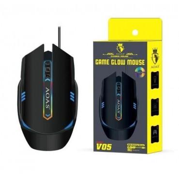 Gaming ενσύρματο ποντίκι aoas v05 black