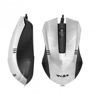 Ενσύρματο ποντίκι weibo fc-201 silver