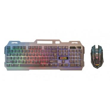 Πληκτρολόγιο Gaming και ποντίκι USB με Οπίσθιο Φωτισμό Andowl Q-808
