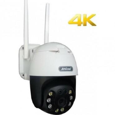 IP Wi-Fi Κάμερα 4K Αδιάβροχη με Φακό 3.6mm Andowl Q-S4