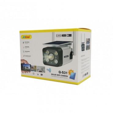 Εξωτερική-αδιάβροχη ηλιακή κάμερα ασφαλείας 5.0MP wifi Andowl Q-S31
