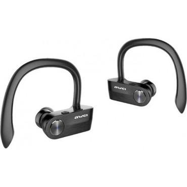 Bluetooth Waterproof Ear-Hook Headphones - Ασύρματα Ακουστικά AWEI T2  (Μαύρο)