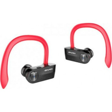 Bluetooth Waterproof Ear-Hook Headphones - Ασύρματα Ακουστικά AWEI T2  (Κόκκινο)