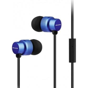 Ακουστικά και Handsfree Υψηλής Απόδοσης Awei ES-970i (Μπλε)
