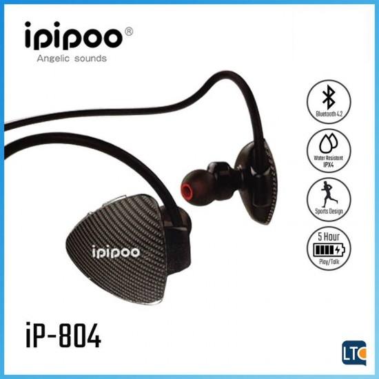 Ακουστικά Bluetooth wireless Headphones Ipipoo iP-804 Black