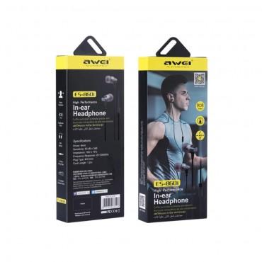 Ακουστικά Handsfree In-Ear Awei ES-860i - Μαύρο