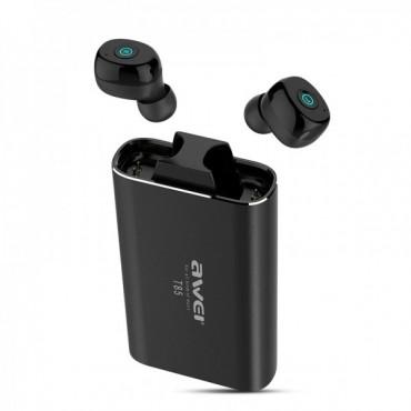 Ασύρματα Bluetooth Ακουστικά με Βάση Φόρτισης Awei T85 (Μαύρο)